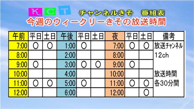 ウィークリーきそ番組案内(10/12~10/18)-2